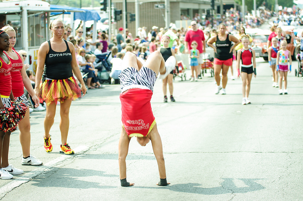 Razzle Dazzle Good Times Parade at  Decatur Celebration, Decatur, Illinois, August 4, 2012. Photo: George Strohl