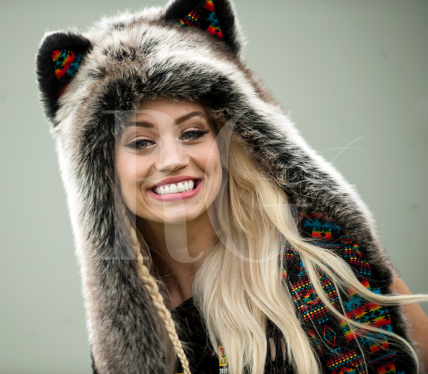 KINROSS, UNITED KINGDOM - JULY 09: Kimberly Wyatt lead singer of the band Her Majesty & the Wolves back stage during the 2ND day of T In The Park Festival 2011 at Balado on July 9, 2011 in Kinross, United Kingdom. Photo by Ross Gilmore