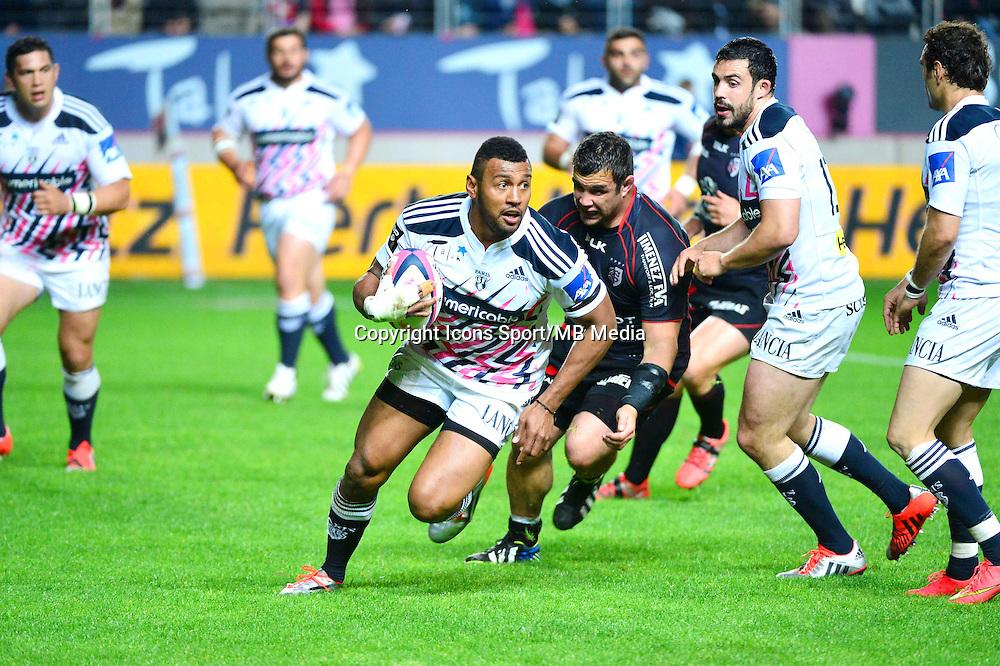 Waisea VUIDRAVUWALU - 24.04.2015 - Stade Francais / Stade Toulousain - 23eme journee de Top 14<br />Photo : Dave Winter / Icon Sport