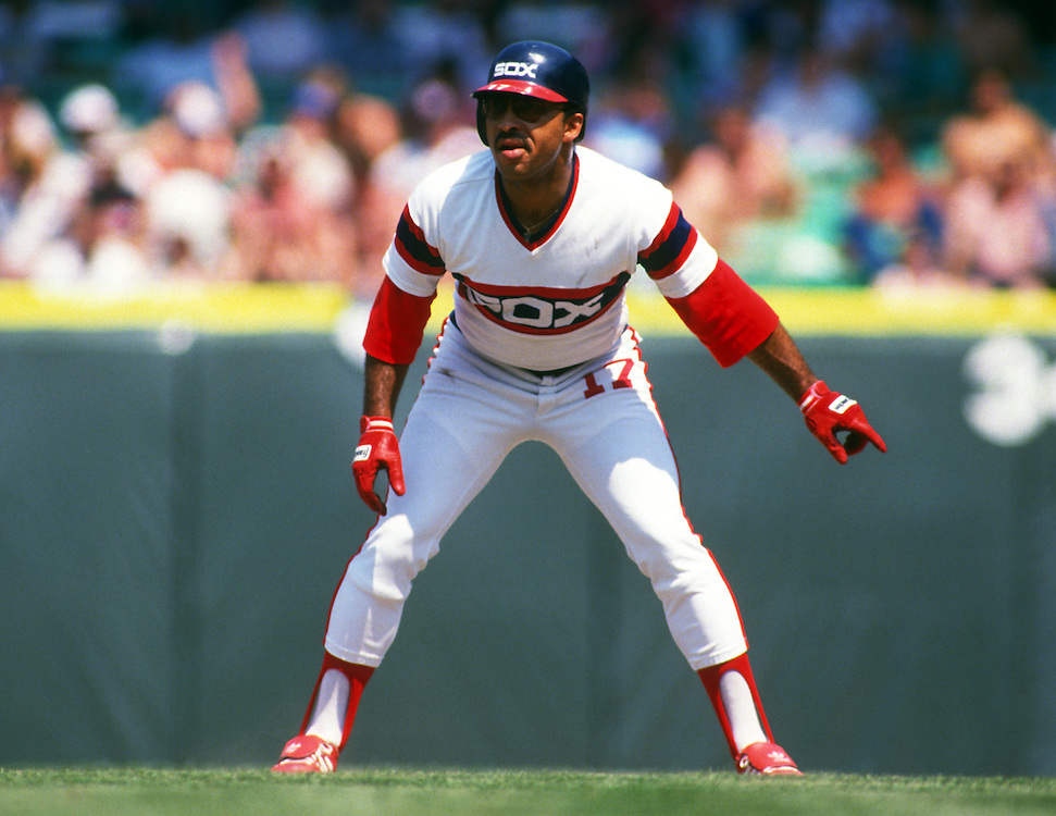 CHICAGO - 1986:  Jerry Hairston of the Chicago White Sox leads off first base during an MLB game at Comiskey Park in Chicago, Illinois.  Hairston played for the White Sox from 1973-1977 and 1981-1989. (Photo by Ron Vesely)
