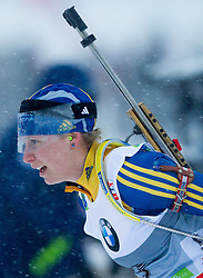 Mattsson Elin of Sweden competes during Ladies 7,5 km Sprint of the e.on IBU Biathlon World Cup on Thursday, December 14, 2012 in Pokljuka, Slovenia. The third e.on IBU World Cup stage is taking place in Rudno polje - Pokljuka, Slovenia until Sunday December 16, 2012. (Photo By Vid Ponikvar / Sportida.com)