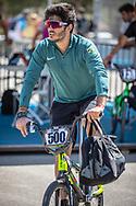 Men Elite #500 (REZENDE Renato) BRA arriving on race day at the 2018 UCI BMX World Championships in Baku, Azerbaijan.