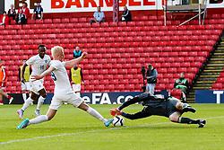 Will Hughes of England fires a shot towards goal   - Photo mandatory by-line: Matt McNulty/JMP - Mobile: 07966 386802 - 11/06/2015 - SPORT - Football - Barnsley - Oakwell Stadium - England U21 v Belarus U21 - International Friendly U21s