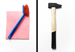 Rubber and little brush vs hammer. (Photo by Vid Ponikvar / Sportal Images)
