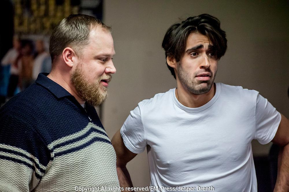 Perspresentatie van de musical The Full Monty<br /> <br /> Op de foto:  Joey Ferre en Dennis Willekens