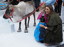 Luisa Zissman with her daughter Dixie at the premiere of Frozen, in London, Sunday, 17th November 2013. Picture by Max Nash / i-Images