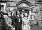 1980-02-29.29th February 1980.29-02-1980.02-29-80..Nurses at Irish Red Cross Society/Cumann Croise Deirge hÉireann in advance of going to Kampuchea..Photographed at Irish Red Cross Society, Dublin:..From Left:..Anne Hickey, Thurles, Co Tipperary.Dr Pat Donohoe, Cashel, Co Tipperary.Patricia Tobin, Thurles, Co Tipperary.Michael McCarthy, Ballsbridge, Dublin.Bridget Lyons, Walkinstown, Dublin.Philomena Mulligan, Ballaghaderreen, Co Roscommon.Katherine M. Hyland, Aragen, Co Cork.