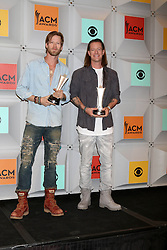 Brian Kelley, Tyler Hubbard, Florida Georgia Line, at the 2016 Academy of Country Music Awards Press Room, MGM Grand Garden Arena, Las Vegas, NV 04-03-16. EXPA Pictures © 2016, PhotoCredit: EXPA/ Photoshot/ Martin Sloan<br /> <br /> *****ATTENTION - for AUT, SLO, CRO, SRB, BIH, MAZ, SUI only*****
