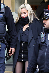© Licensed to London News Pictures. 23/12/2019. London, UK. Radio presenter and Love Island host CAROLINE FLACK leaves Highbury Corner Magistrates' Court after pleading not guilty to the charged for actual bodily harm. CAROLINE FLACK will appear before a Crown Court in March for a jury trail.  Photo credit: Dinendra Haria/LNP