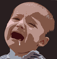 Portrait of baby crying ,