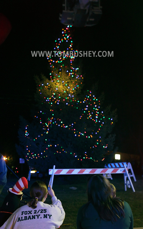 Town of Wallkill, New York - People watch the Holiday Tree Lighting in front of Town Hall on Saturday, Nov. 26, 2012.