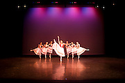 Dance Wisconsin rehearses their New Works performance at Mitby Theater at Madison College in Madison, Wisconsin on October 6, 2010. Jo Jean Retrum is the the Artistic Director of Dance Wisconsin.