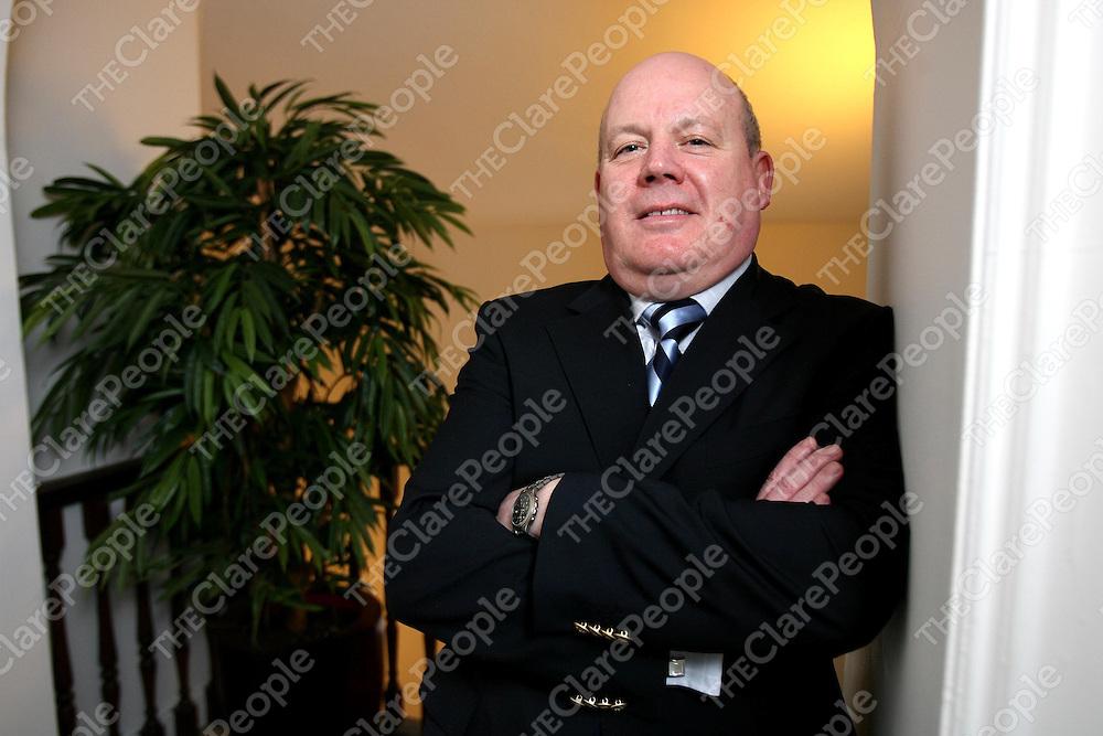 Paul J Coady ,new President of Kilrush Chamber of Commerce.<br /><br />Photograph by Eamon Ward