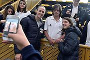Kathrin Ress, Chiara Consolini<br /> Nazionale Femminile Senior in visita al Liceo Scientifico Sportivo E. Fermi di Lucca.<br /> FIP 2016<br /> Lucca, 18/11/2016<br /> Foto Ciamillo - Castoria