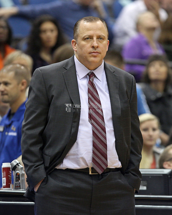 Nov 1, 2014; Minneapolis, MN, USA; Chicago Bulls head coach Tom Thibodeau against the Minnesota Timberwolves at Target Center. The Bulls defeated the Timberwolves 106-105. Mandatory Credit: Brace Hemmelgarn-USA TODAY Sports