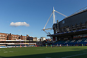 A general view of Cardiff Arms Park, home of Cardiff RFC.<br /> <br /> Cardiff Arms Park, Cardiff, Wales, UK - Saturday 19th October, 2019.<br /> <br /> Images from the Indigo Welsh Premiership rugby match between Cardiff RFC and Carmarthen Quins RFC. <br /> <br /> Photographer Dan Minto<br /> <br /> mail@danmintophotography.com <br /> www.danmintophotography.com