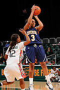 December 18, 2010: Rheya Neabors of the  California Riverside Highlanders in action during the NCAA basketball game between the Miami Hurricanes and the Highlanders. The 'Canes defeated the Highlanders 81-59.