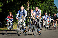 KING WILLEM ALEXANDER ON A BIKE DURING THE BIKE FIETS 4 DAAGSE IN ASSEN