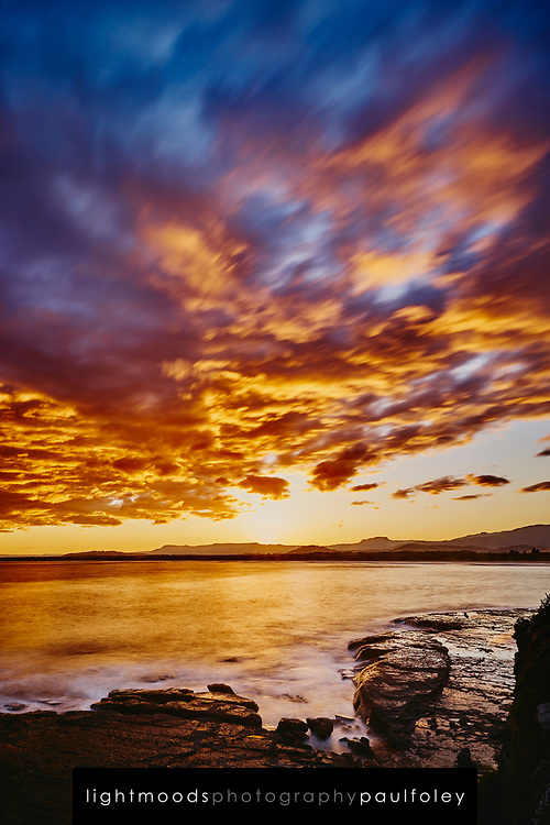 Sunset over Gerroa, South Coast, NSW, Australia.