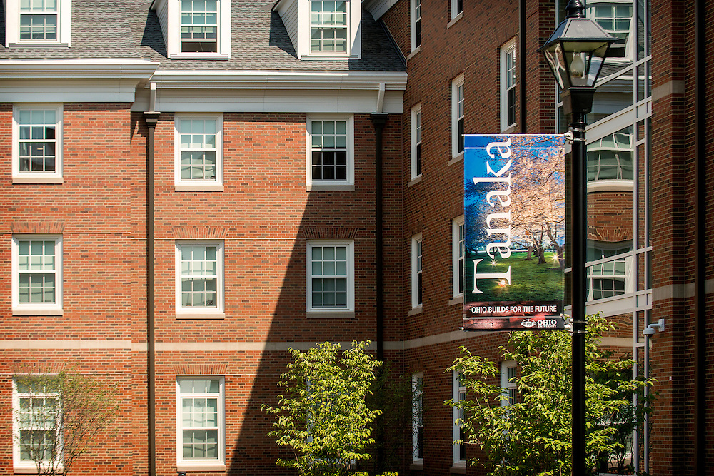 Tanaka Hall was one of the new student residence buildings celebrated during the Ohio University Residential Housing Phase 1 opening ceremony and ribbon cutting event on Saturday, August 29, 2015 at the Living Learning Center on the Ohio University campus in Athens, Ohio.