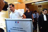 Mladen Bojinovic - 17.06.2015 - Proces des paris sportifs du Handball - Montpellier<br /> Photo : Alexandre Dimou / Icon Sport