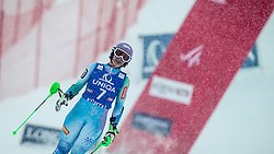 29.12.2014, Hohe Mut, Kühtai, AUT, FIS Ski Weltcup, Kühtai, Slalom, Damen, 2. Durchgang, im Bild Tina Maze (SLO) // Tina Maze of Slovenia reacts after 2nd run of Ladies Giant Slalom of the Kuehtai FIS Ski Alpine World Cup at the Hohe Mut Course in Kuehtai, Austria on 2014/12/29. EXPA Pictures © 2014, PhotoCredit: EXPA/ JFK