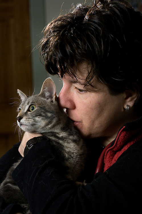 Blakeley Murrell-Liland is a veterinarian and co-owner of Kedron Valley Veterinary Clinic in West Woodstock, Vt., on Jan. 12, 2010. Murrell-Liland's father owned the clinic before her. (Photo by Geoff Hansen)