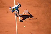 Paris, France. Roland Garros. June 4th 2013.<br /> French player Jo-Wilfried TSONGA against Roger FEDERER