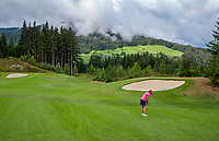 WESTENDORF -  Tirol   Oostenrijk,  - Hole 1. Golfanlage Kitzbuheler Alpen Westendorf.    COPYRIGHT KOEN SUYK