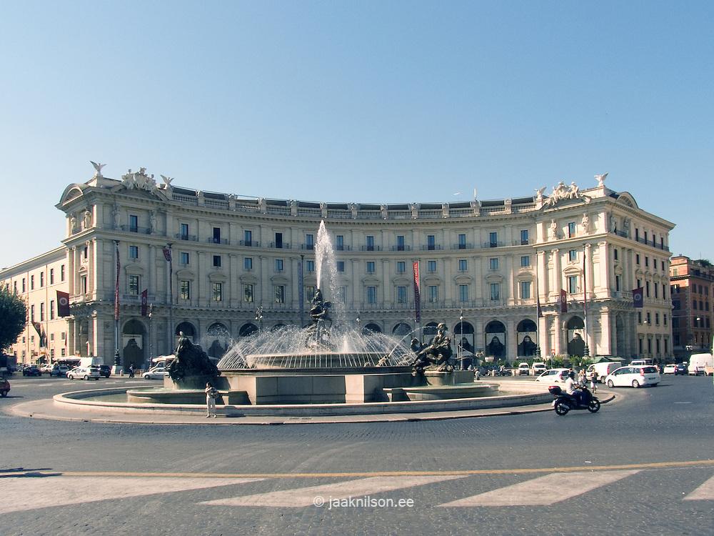 The Fountain of the Naiads on Piazza della Repubblica,  Historic Centre of Rome, Italy,  World Heritage Site