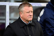 Northampton Town manager Chris Wilder during the Sky Bet League 2 match between Northampton Town and Yeovil Town at Sixfields Stadium, Northampton, England on 28 November 2015. Photo by Dennis Goodwin.