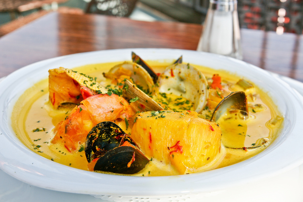 Saffron scented seafood bouillabaisse at Tabac.