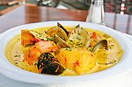 Saffron scented seafood bouillabaisse at Tabac.