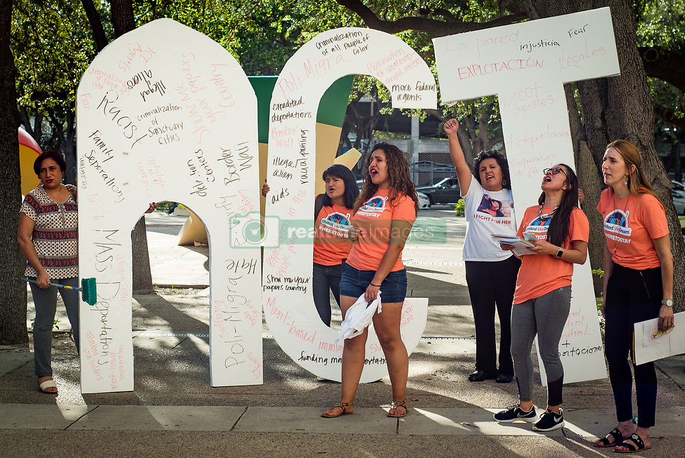 October 13, 2017 - Miami, Florida, U.S - Immigrant Youth demand a clean Dream Act in the streets of Miami, calling senator Rubio to support the Deferred Action for Childhood Arrivals program, also known as DACA. (Credit Image: © Orit Ben-Ezzer via ZUMA Wire)