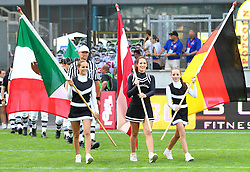 08.07.2011, Tivoli Stadion, Innsbruck, AUT, American Football WM 2011, Group A, Germany (GER) vs Mexico (MEX), im Bild Cheerleader with the Flags from Mexico, Austria and Germany // during the American Football World Championship 2011 Group A game, Germany vs Mexico, at Tivoli Stadion, Innsbruck, 2011-07-08, EXPA Pictures © 2011, PhotoCredit: EXPA/ T. Haumer