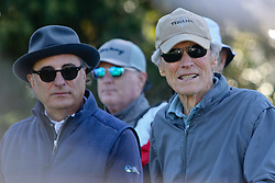 """Feb 6, 2019 Pebble Beach, Ca. USA TV, Film and singing stars that included Winners, CLINT EASTWOOD and ANDY GACIA whom played in the """"3M Celebrity Challenge"""" to try for part of the 100K purse to go to their favorite charity and win the Estwood-Murray cup, for which team Clint Eastwwod's group won.. The event took place during practice day of the PGA AT&T National Pro-Am golf on the Pebble Beach Golf Links. Photo by Dane Andrew c. 2019 contact: 408 744-9017  TenPressMedia@gmail.com"""