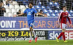 Lee Angol of Peterborough United celebrates scoring his goal - Mandatory byline: Joe Dent/JMP - 24/11/2015 - FOOTBALL - ABAX Stadium - Peterborough, England - Peterborough United v Barnsley - Sky Bet League One