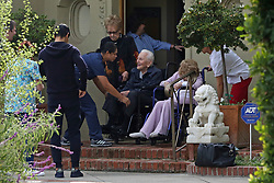 Kirk Douglas celebrates his 102nd Birthday with his wife of 64 years Anne Buydens at their home in Beverly Hills., they were joined by their son Michael Douglas, Friends and family. 09 Dec 2018 Pictured: Kirk Douglas celebrates his 102nd Birtdhay with his wife of 64 years Anne Buydens at their home in Beverly Hills.,. Photo credit: P&P / MEGA TheMegaAgency.com +1 888 505 6342