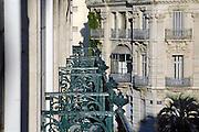 Frankrijk, Sete, 20-9-2008Balkons van een hotel en gevel van een gebouw uit het einde van de 19e eeuw, eind 1800. Balconies of a hotel and a facade of a building from the end of the 19th century, the end of 1800.Foto: Flip Franssen/Hollandse Hoogte