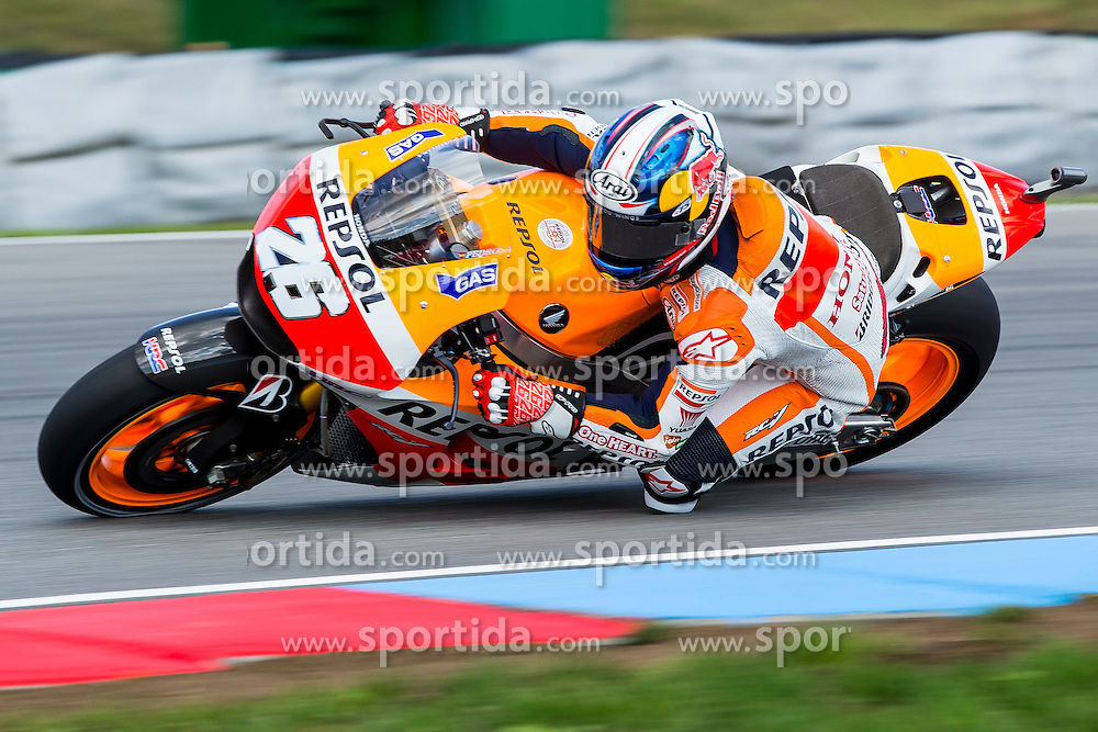 15.08.2014, Automotodrom, Brno, CZE, MotoGP, bwin Grand Prix Ceske Republiky, freies Training, im Bild Dani Pedrosa (Repsol Honda Team) // during the FP1 of bwin Grand Prix Ceske Republiky of the MotoGP series at the Automotodrom in Brno, Czech Republic on 2014/08/15. EXPA Pictures &copy; 2014, PhotoCredit: EXPA/ Newspix/ Lukasz Skwiot / Foto Olimpik<br /> <br /> *****ATTENTION - for AUT, SLO, CRO, SRB, BIH, MAZ, TUR, SUI, SWE only*****