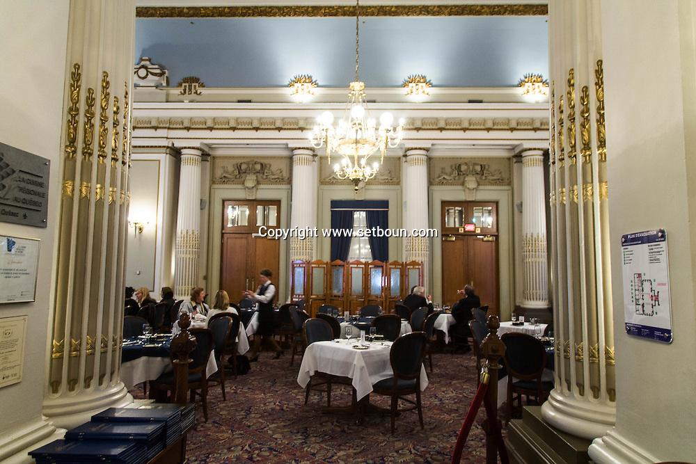Canada. Quebec. the parliament and the restaurant are open to the public   / le parlement et le restaurant sont ouvert au public