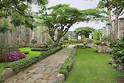 CARTAGO, COSTA RICA - JUNE 17, 2012: Exterior of the ruins of the Santiago Apostol church in Cartago, Costa Rica.