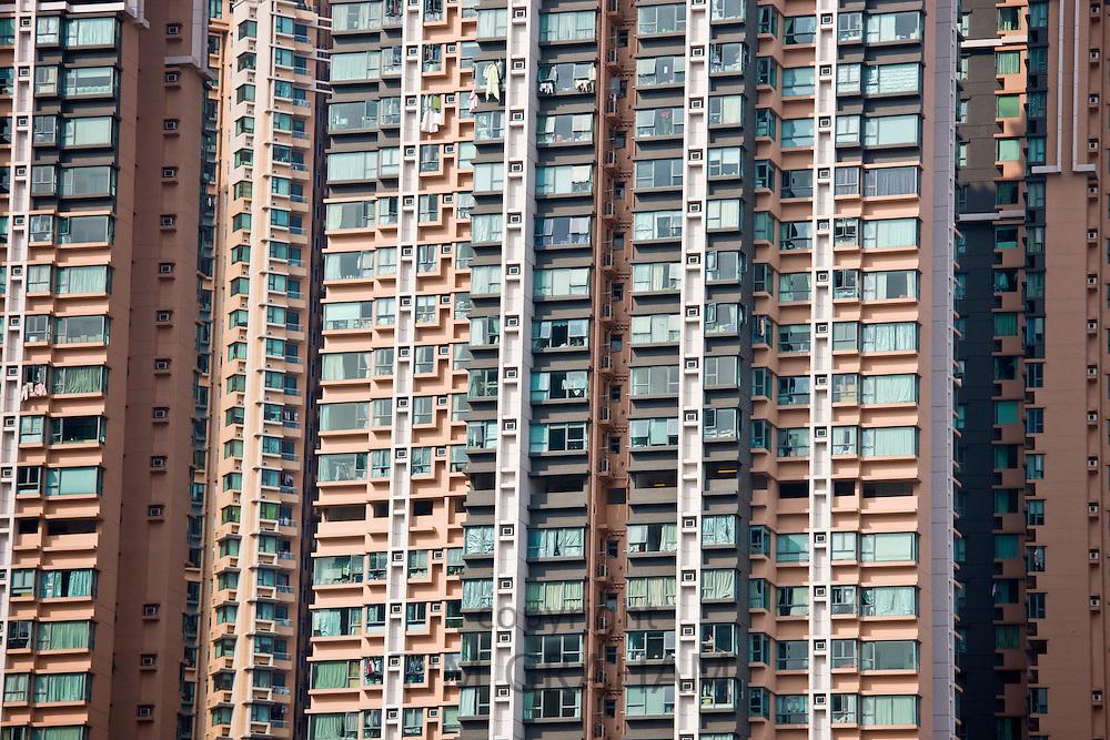 Apartment blocks in Hong Kong, China