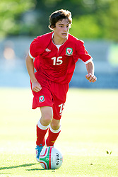 BANGOR, WALES - Thursday, August 30, 2012: Wales' Daniel James in action against Poland during the International Friendly Under-16's match at the Nantporth Stadium. (Pic by David Rawcliffe/Propaganda)