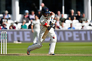 Liam Livingstone of Lancashire playing a defensive shot during the Specsavers County Champ Div 1 match between Somerset County Cricket Club and Lancashire County Cricket Club at the Cooper Associates County Ground, Taunton, United Kingdom on 13 September 2017. Photo by Graham Hunt.