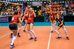 24-08-2017 NED: World Qualifications Belgium - Slovenia, Rotterdam<br /> BelgiÎ wint met 3-1 van Slovenie<br /> Photo by Ronald Hoogendoorn / Sportida