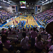 02/05/12 Newark DE: The University  Delaware prep band plays music whiles fans arrive at the Bob Carpenter Center prior to the start of a Colonial Athletic Association game against the VCU Lady Rams, Feb. 5, 2012 at the Bob carpenter center in Newark Delaware...Special to The News Journal/SAQUAN STIMPSON