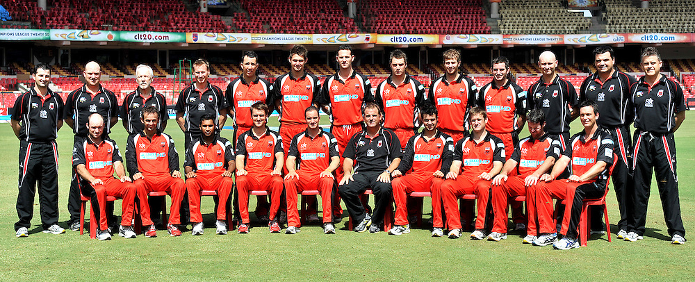 Team South Australia pose for a group photo during the SA Redbacks  training and nets session held at the  M.Chinnaswamy Stadium in Bangalore , Karnataka, India on the 4th October 2011..Photo by Pal Pillai/BCCI/SPORTZPICS