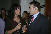 Gail Rebuck and Peter Straus. Party for Bret Easton Ellis's book 'Lunar Park'  given by Geordie Greig. Home House. Portman Sq. London.  London. 5 October 2005. . ONE TIME USE ONLY - DO NOT ARCHIVE © Copyright Photograph by Dafydd Jones 66 Stockwell Park Rd. London SW9 0DA Tel 020 7733 0108 www.dafjones.com