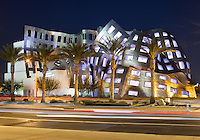 Las Vegas, Nevada - Nov 2, 2012  Architect Frank Gehry's stainless steel Cleveland Clinic Lou Ruvo Center for Brain Health. The clinic treats patients with degenerative brain diseases such as Alzheimer's, Parkinson's, Huntington's and Lou Gehrig's disease. Frank Gehry is a world renowned architect well known for his post-modern stainless steel abstract designs.
